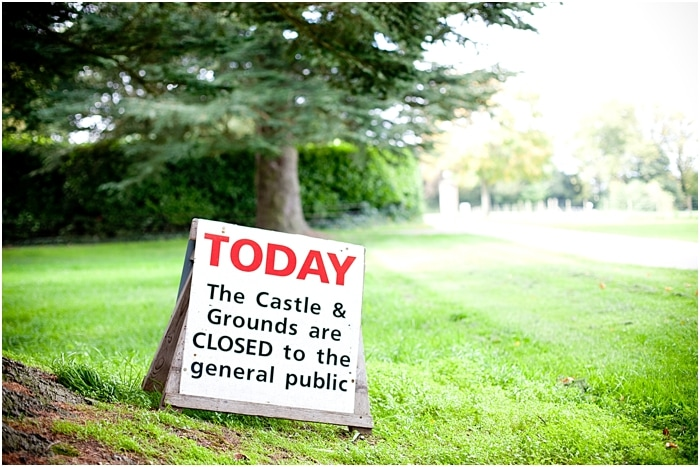 Highclere Castle closed to general public - sign