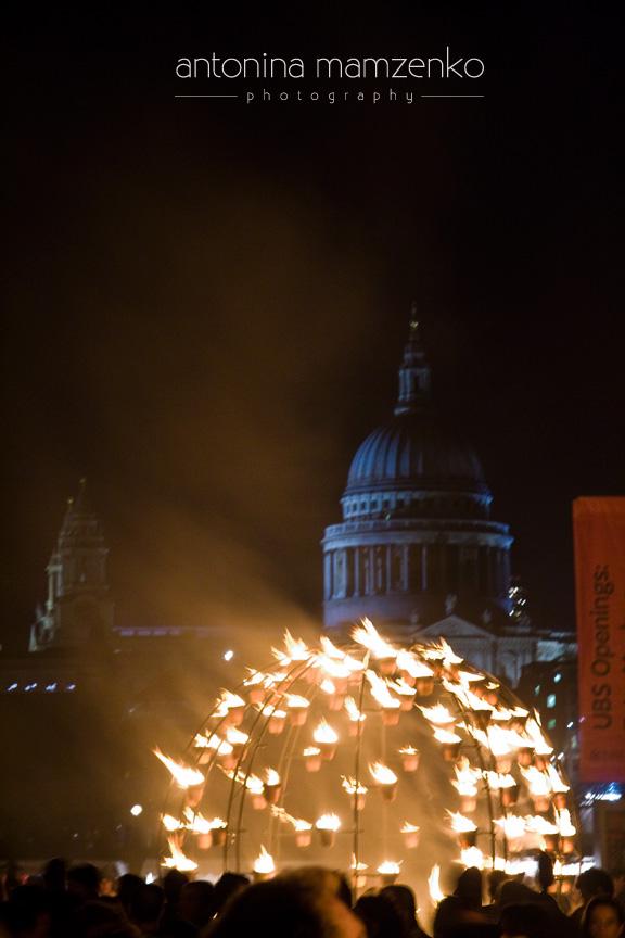 Fire garden St Pauls - Thames Festival