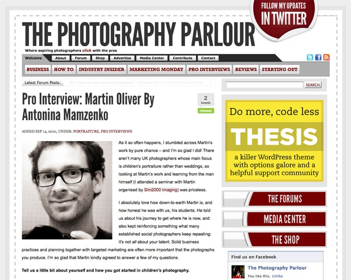 Interview with Martin Oliver