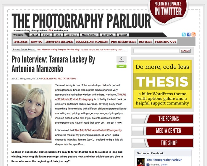 Interview with Tamara Lackey