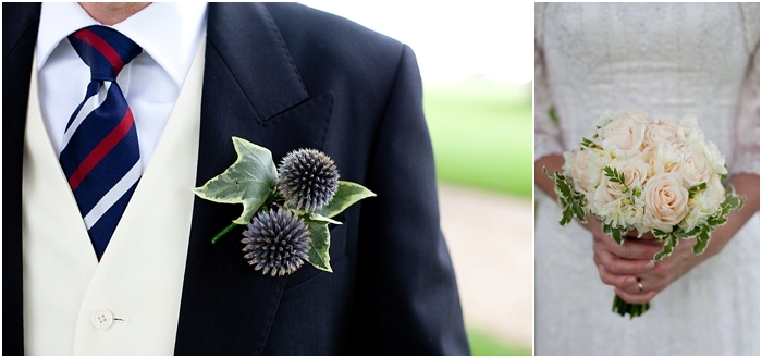 bridal bouquet and groom's buttonhole