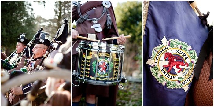 scottish regiment orchestra at a wedding