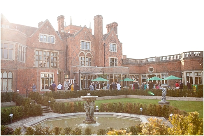 a view of the reception on a sunny day at Warren House, Kingston-upon-Thames