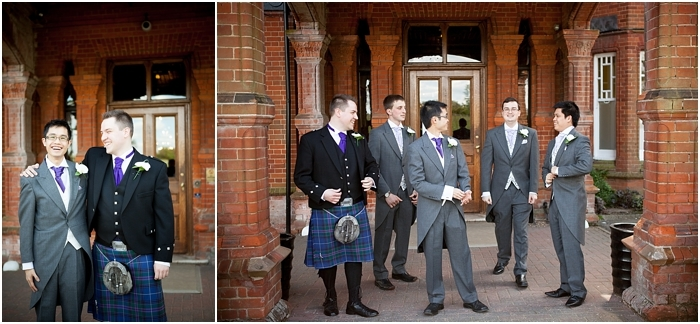 groom and his groomsmen at Woodlands Park Hotel