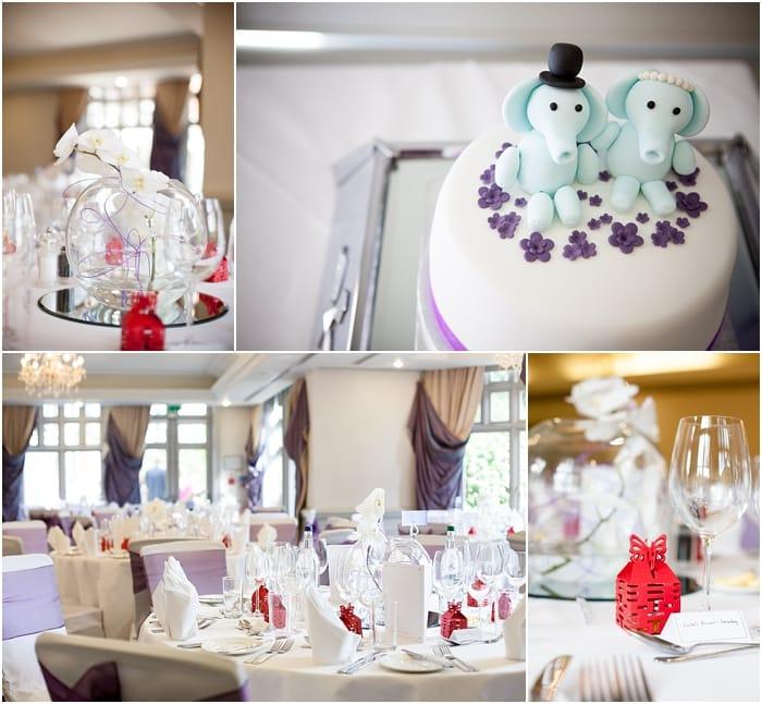 wedding details, wedding cake, chinese lanterns, flower decorations, woodlands park hotel