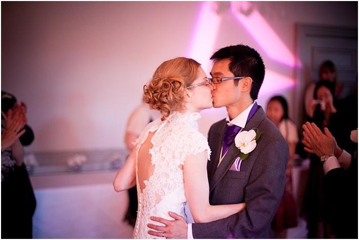 bride and groom dancing, woodlands park hotel