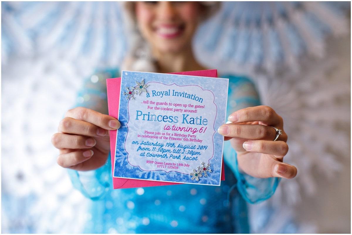 Frozen Themed Birthday Party Ideas Photoshoot