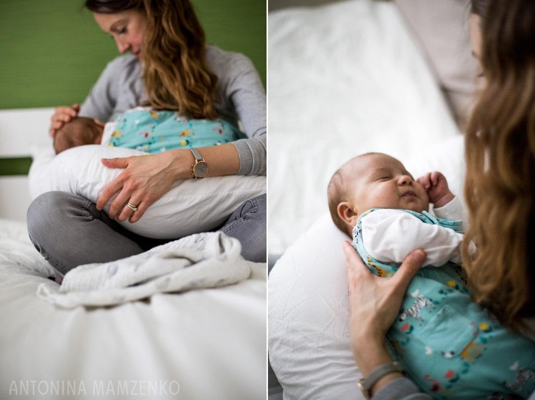 fulham mum at home with newborn baby