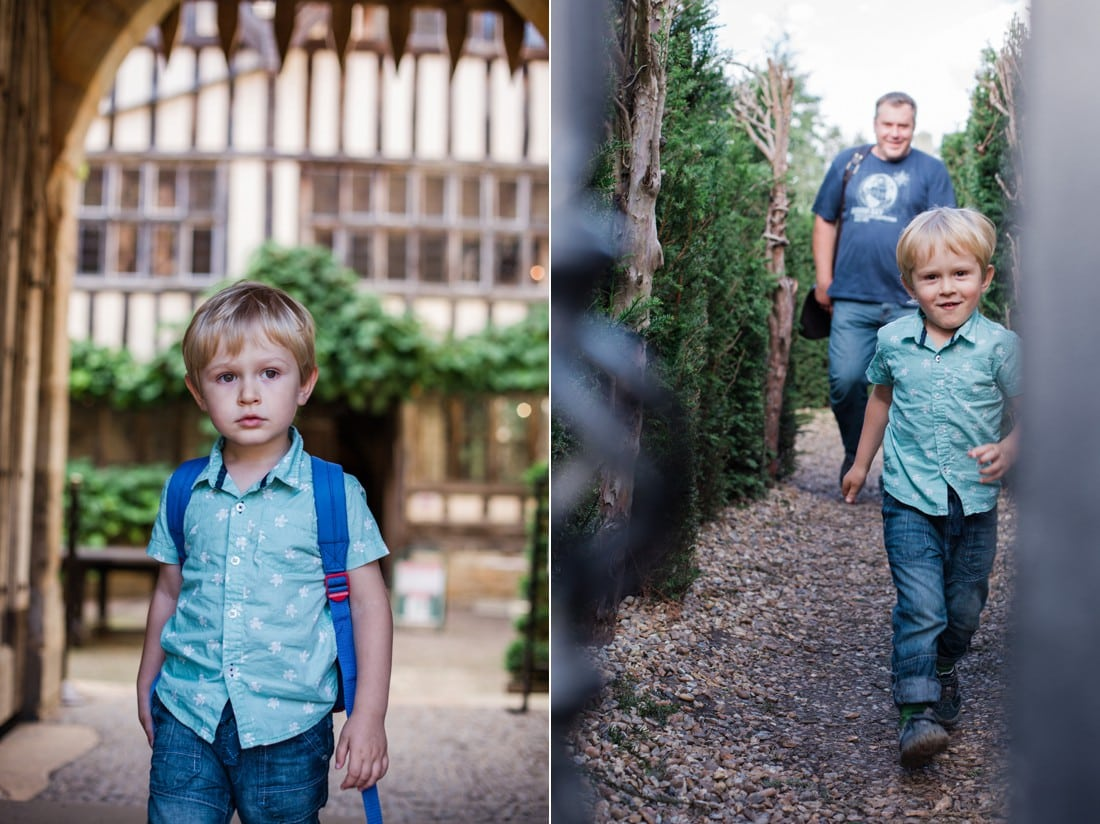 boy visiting hever castle in sussex