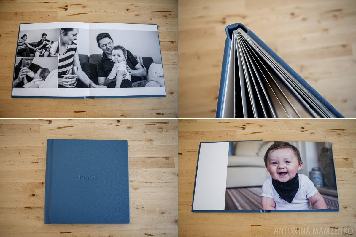 fine art album for a baby photoshoot in hersham