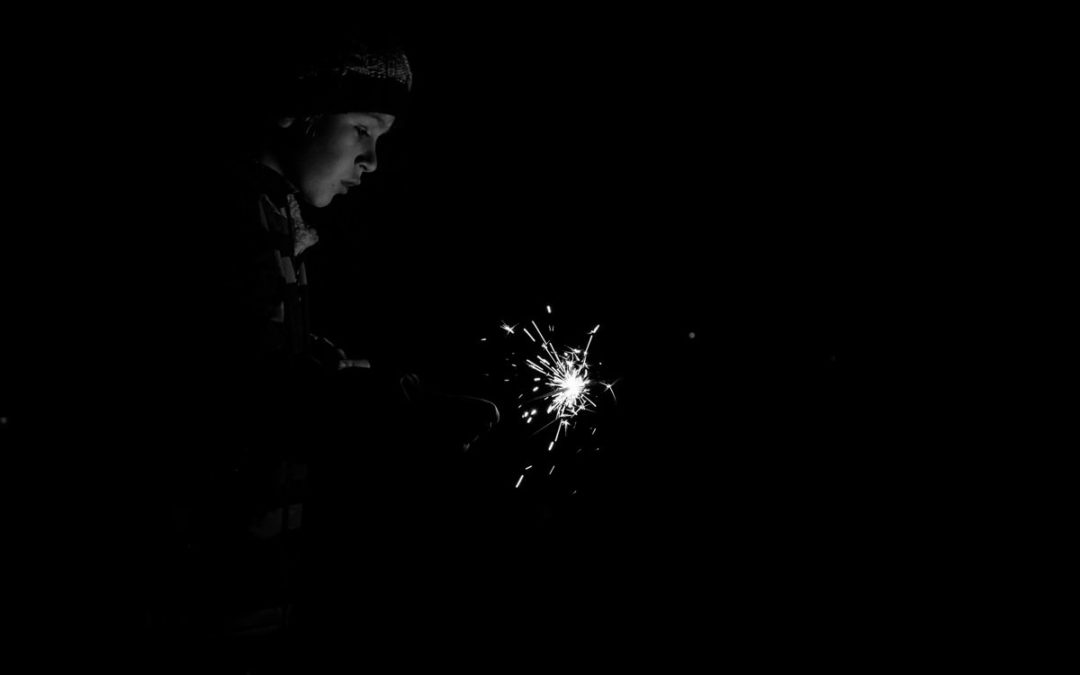 Black and White Sparklers