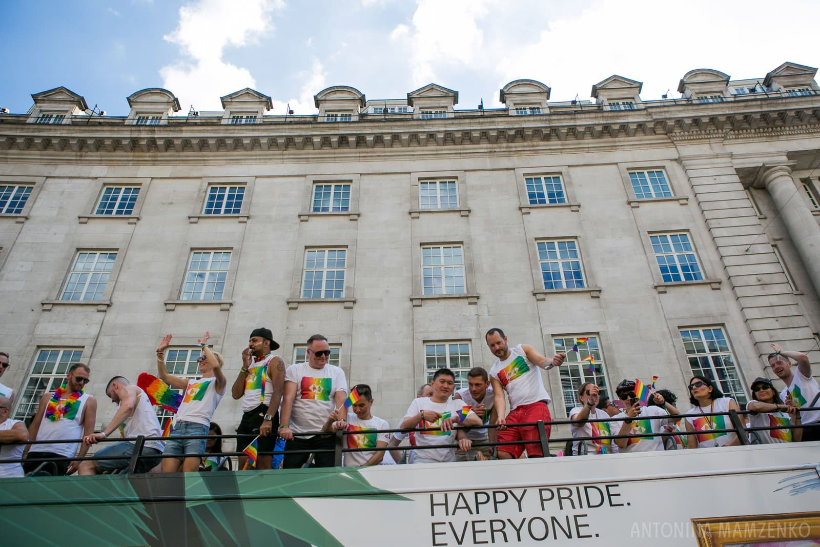 HSBC bank bus at London Pride 2018