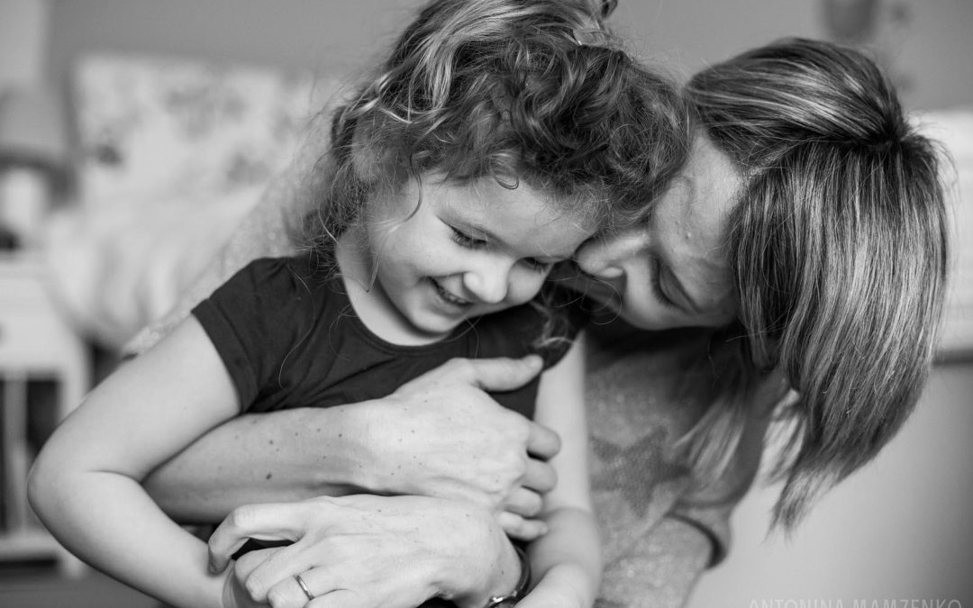 Black and white family life photos at home in Clapham