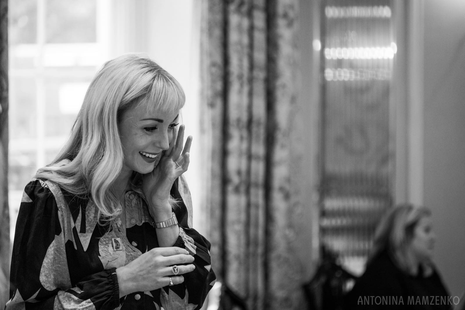 actor Helen George at ICP Support charity afternoon tea event