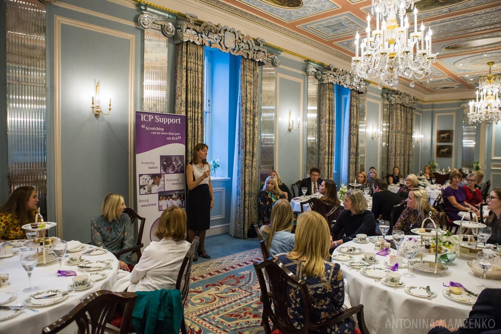 ICP Support Patron Professor Catherine Williamson speaking at the ICP event