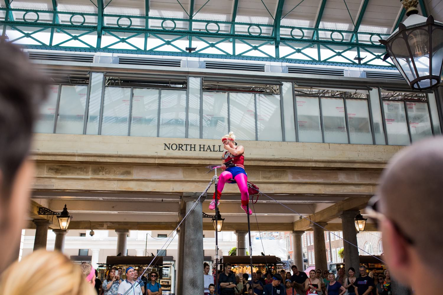 street performer at covent garden, london