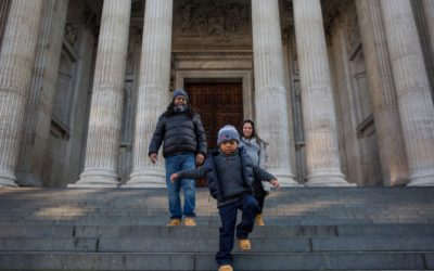 A winter family vacation photoshoot in London