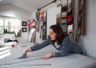 Behind the Scenes and Personal Branding photoshoot with Victoria Hill, a bespoke soft furnishing designer